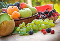 Organic fruits - summer fruits Royalty Free Stock Images