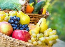 Organic fruits and vegetables Stock Photo
