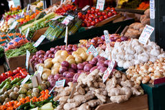 Organic Fruits, Vegetables at the Farmer's Market Royalty Free Stock Photo