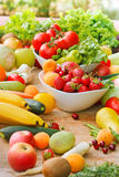 Organic fruits and vegetables Royalty Free Stock Photo