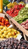 Organic Fruits and Vegetables At A Street Market Stock Photography
