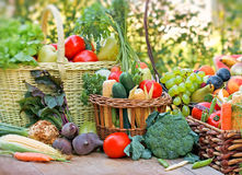 Organic fruits an vegetables Stock Photo