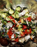 Organic garbage, remains of vegetables and green Stock Image