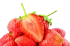 Organic garden strawberry Royalty Free Stock Images