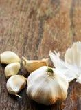 Organic garlic Royalty Free Stock Images