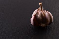 Organic garlic. Natural antibiotic. Healthy food. Natural backgr Stock Photo