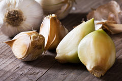 Organic garlic Royalty Free Stock Image