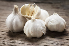 Organic garlic. Thai herb for food ingredients Royalty Free Stock Photography