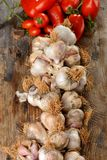 Organic garlic and tomato Stock Photo