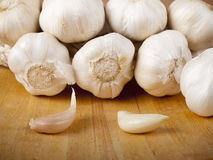 Organic garlic Royalty Free Stock Image