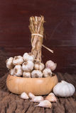 Organic garlic Royalty Free Stock Photo