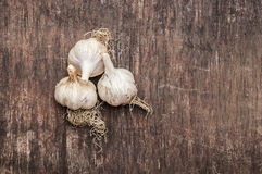 Organic garlic Stock Photo