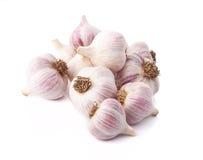 Organic garlics Royalty Free Stock Images