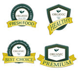 Organic and Genuine product premium labels. Many different style with space for your text. royalty free stock photos