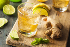 Organic Ginger Ale Soda Royalty Free Stock Photo