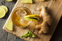 Organic Ginger Ale Soda Stock Photography