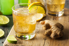 Organic Ginger Ale Soda Stock Photos