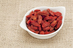 Organic goji berries Stock Image