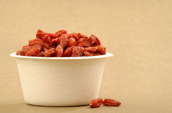 Organic Goji berries Stock Photography