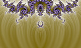 Organic Gold Purple Intricate Fractal Pano Background Royalty Free Stock Images
