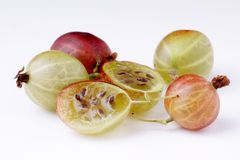 Organic Gooseberries Stock Photo