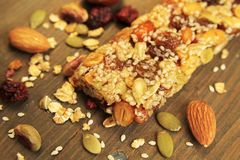 Organic granola bar Stock Photography