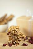 Organic granola bars. Healthy vegan organic granola bars Royalty Free Stock Photos