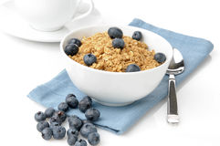 Organic granola with blueberries Royalty Free Stock Image