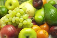Organic Grapes and Fruits Royalty Free Stock Photos