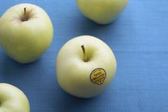 Organic green apples royalty free stock image