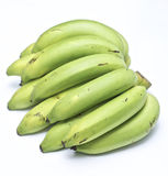 A organic green bananas Stock Photo