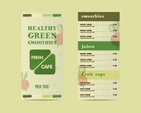 Organic, green cafe menu vector concept. Fresh Royalty Free Stock Photos