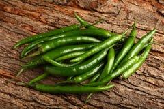 Organic green chili Stock Photos