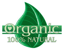 Organic Green Design With Leaf Stock Photo