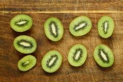 Organic green kiwi fruit Stock Photo
