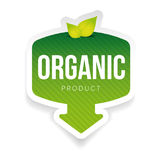 Organic green label with leaves. Vector Royalty Free Stock Photo