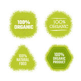 Organic green label. Organic product green label. Vector texture sticker Royalty Free Stock Photo