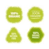 Organic green label Royalty Free Stock Photo