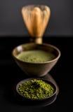 Organic green matcha tea Stock Images