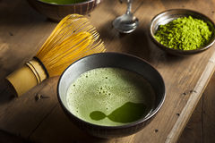 Organic Green Matcha Tea Stock Photography