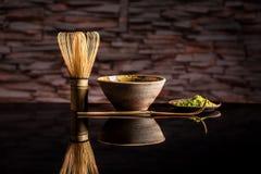 Organic green matcha tea Stock Photo