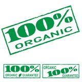 Organic green print label set Royalty Free Stock Images