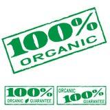 Organic Green Print Label Set Royalty Free Stock Images