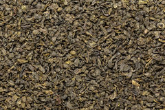 Organic Green Tea (Camellia sinensis) dried whole leaves. Royalty Free Stock Photography