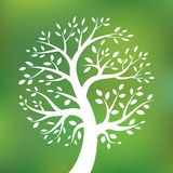 Organic green tree logo, eco emblem, ecology Royalty Free Stock Photography