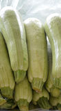 Organic Green Zucchinis Stock Photos