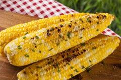 Organic Grilled Corn on the Cob Stock Photos