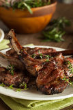 Organic Grilled Lamb Chops Royalty Free Stock Image