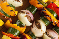 Organic Grilled Vegetable shish Kebab Royalty Free Stock Photography