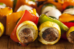 Organic Grilled Vegetable shish Kebab Stock Photo
